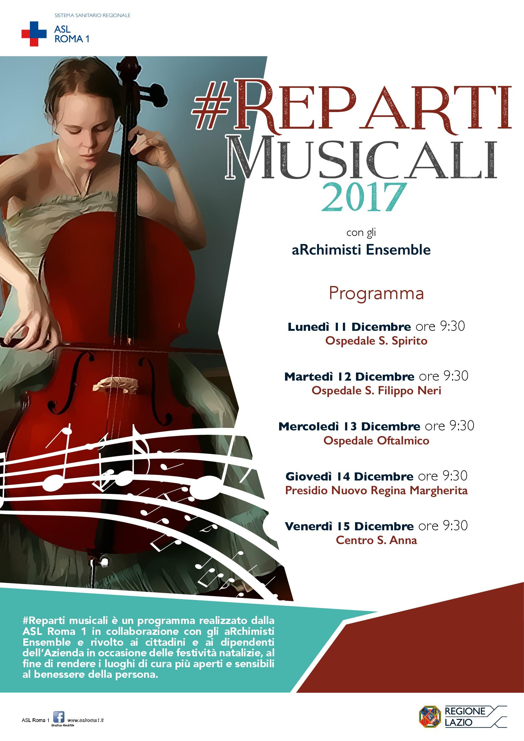 Reparti musicali è un programma realizzato dalla ASL Roma 1 in  collaborazione con gli aRchimisti Ensemble. f849b40d273